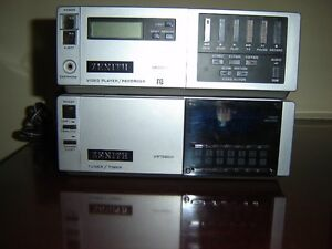BETA VCR (PORTABLE) WITH BETA TAPES