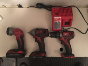 Milwaukee Cordless Impact, 1/2 inch Drill and Flashlight