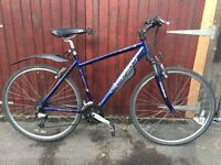 Blue Large Hybrid, Carrera Crossfire 2, 20 inch frame, Front Suspension, Shimano Altus