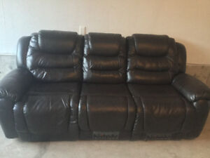 Leather Reclining Sofa for sale
