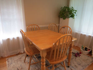 kitchen table,electric fireplace,utility table and hutch