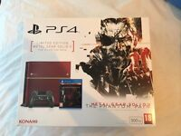 PS4 metal gear solid limited edition 500gb + 7 games, 2 controllers and controller charging dock