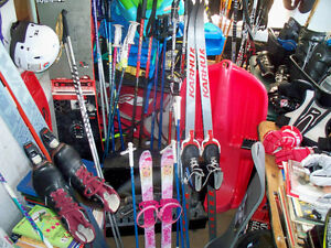 D.SKI POLES,4L.AND3 R. HOCKEY STICKS,2 SLEDS,AND MORE
