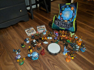 31 Skylanders, Two PS3 Games, Portal & Bag