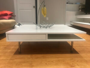 Ikea coffee table, high gloss white