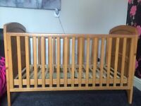 Winnie the Pooh carved cot bed.