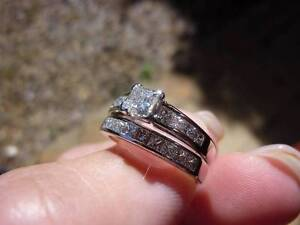 18ct white gold wedding and engagement set Arana Hills Brisbane North West Preview