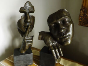 SCULPTURES DE BRONZE ABSTRACT ART-DECO MODERNE - MODERN ART-DECO