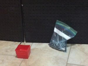 Black PegBoard Storage Set