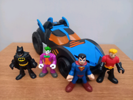 Imaginext DC Bat car & figures