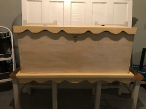 SOLD---Solid Wood Toy Chest