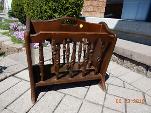 reduced - Wooden Book/newspaper rack