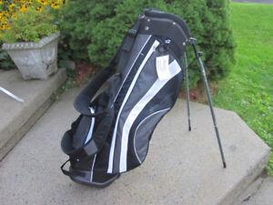"Orlimar Black TI Golf Stand Bag 10""x 7"" Top ""NEW"""
