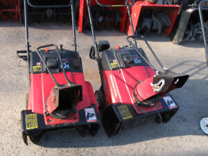 2 - 6 HP. 21 INCH 4 STROKE HONDA PADDLE BLOWERS V/G CONDITION