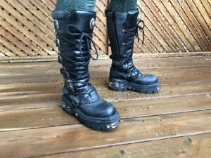 New Rock Full Leather Boots Size 42