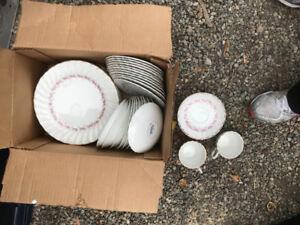 FINE CHINA Pink Petite ironstone ware Myott's