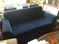 Lovely Quality Blue Two Seater Sofa