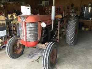 Diesel farm tractor
