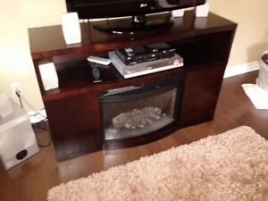 Solid Fireplace - Muskoka Electric with Remote