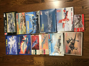 Scale Model Kits - 13 Military jet Aircraft-1/72 - Lot#5