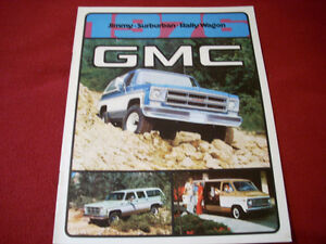 1976 GMC Jimmy Suburban Rally Wagon brochure