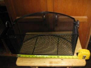 well made solid walker basket with hooks,& carry handle. mint