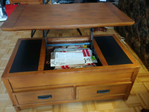 Solid wood lift top coffee table best offer