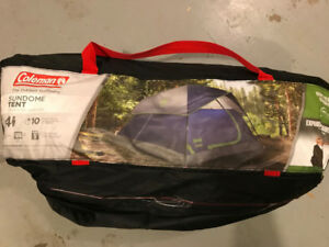 Coleman Sundome 4 person tent.