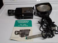 ciné caméra 8mm avec flash et écran