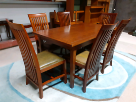 Rustic Style Extendable Dining Table and 6 Chairs