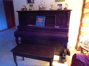 Vintage Player Piano-Over 100 Years Old-38 Player Rolls Included