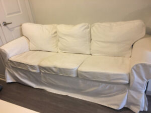 Modern Ikea White Couch for Sale!