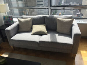 IKEA Karlstad Grey Loveseat (3 seater)