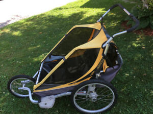 Great Used Condition! Chariot Double Stroller with Attachments