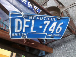 Various 1970s Licence Plate Sets Prince George British Columbia image 3
