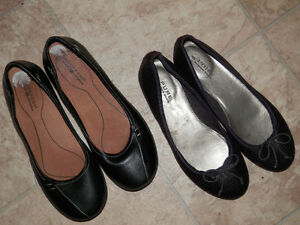 7 pairs of shoes (Clarks, Denver Hayes, Nine West...)