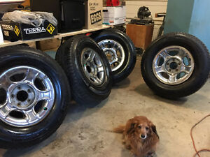 P265/70/R17 Michelin X-Ice winter tires. Very good condition.