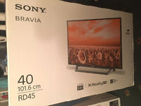 "Sony bravia 40"" New! Sealed"