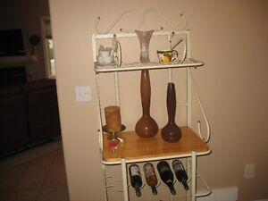 bakers rack, desk,chair,swivel chair & ottoman,glass coffee tabl