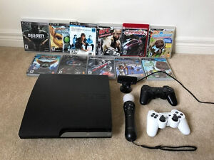 Sony PS3 320GB Perfect condition bundle with move, games