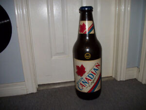 Large Vintage Molson Canadian Coin Bank Bottle