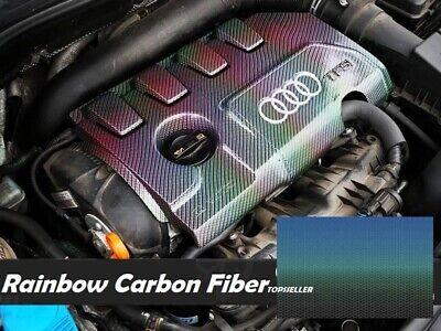 Rainbow Carbon Fiber Water Transfer Dipping Hydrographic Hydro Film 0.5x2m Multi
