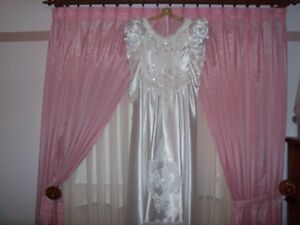 White Pearl covered wedding dress worn once