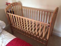 Mamas and Papas cot and bed