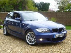 2008 BMW 120d 2.0TD auto d M Sport 3dr hatchback ++ LE MANS BLUE + 7 BMW STAMPS