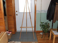 SOLID OAK EASEL / DISPLAY STAND