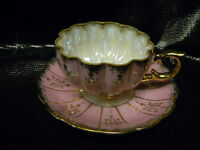 SHAFFORD HAND PAINTED TEA CUP & SAUCER(BOX40)
