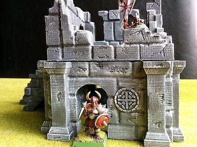 Building Ruins Terrain Warhammer D&D 28mm Fantasy Wargame 25mm LOTR Frostgrave