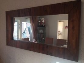Large wood mirror from Next