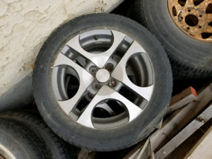 """Set of 16"""" rims and tires for Saturn ion"""